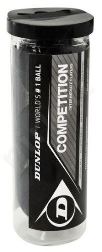 Skvošo kamuoliukai COMPETITION 1yellow dot 3-tube