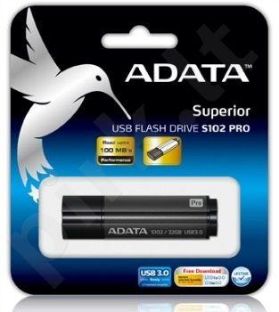 Atmintukas Adata S102 PRO 64GB USB3.0 Titanium Gray (Sparta 50/100MB/s)