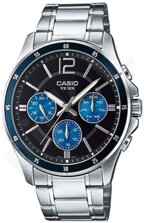 Laikrodis CASIO   MTP-1374D-2A Multinfunction. 3 counters. wr 50 **ORIGINAL BOX**