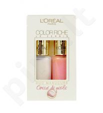 L´Oreal Paris Color Riche Duo Manicure, kosmetika moterims, 2x5ml, (006 Tahitian Pearl + 218 Peachy Pink)