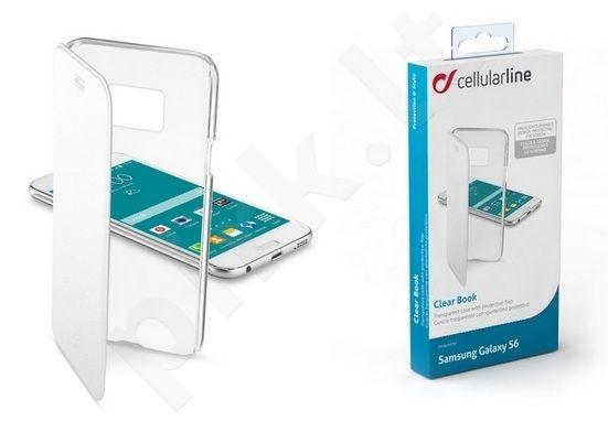 Samsung Galaxy S6 dėklas CLEARBOOK Cellular baltas