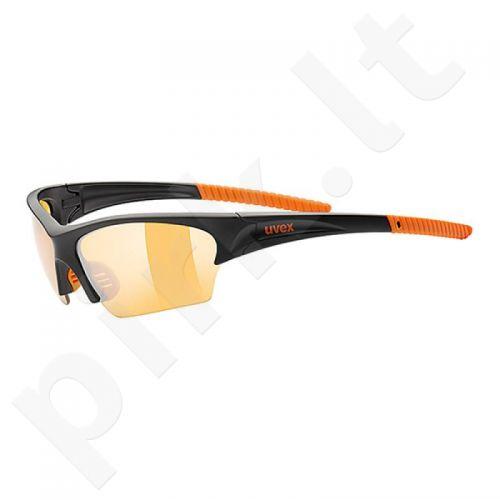 Akiniai Uvex Sunsation juoda-oranžinė