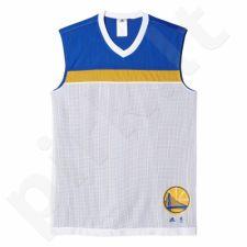 Marškinėliai krepšiniui dvipusė  Adidas Winter Hoops Golden State Warriors M AX7680