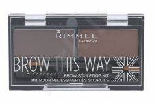 Rimmel London Brow This Way, dažų paletė antakiams moterims, 2,4g, (002 Medium Brown)