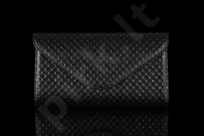FELICE Clutch F04 juoda elegantiška rankinė moterims