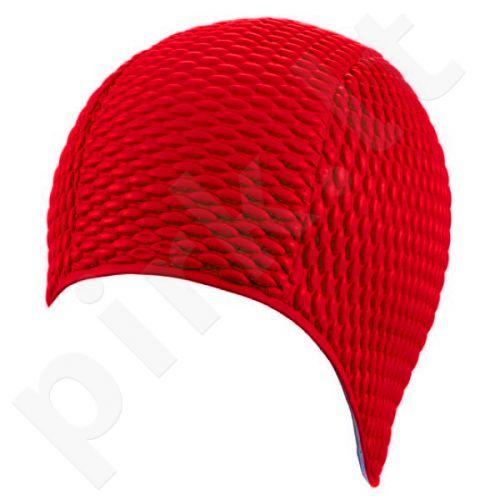 Kepuraitė plaukimui moterims gum-bubble 7300 5 red