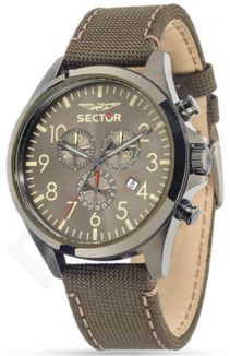 Laikrodis SECTOR   180 Chr Gray Dial Brown/Green Strap