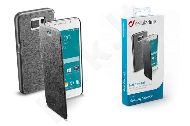 Samsung Galaxy S6 dėklas BOOK ESSEN Cellular juodas
