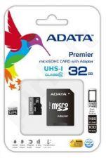 Atminties kortelė Adata microSDHC 32GB UHS1 + Adapteris