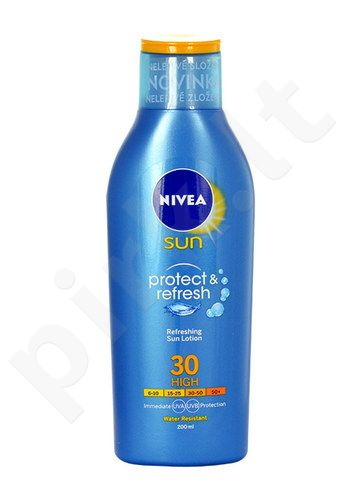 Nivea apsauga nuo saulės & Refresh Sun Lotion SPF30, kosmetika moterims, 200ml