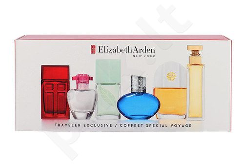 Elizabeth Arden Mini Set rinkinys moterims, (3,7ml EDP Green Tea + 5ml EDP Red Door + 5ml EDP Pretty +  3,7ml EDP 5th Avenue + 7,5ml EDT Sunflowers + 5ml EDP Mediterranean)