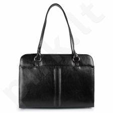 DAN-A T144 juoda rankinė iš natūralios odos , moteriška klasikinė