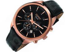 Esprit ES106261003 Glendale Rose Gold Black vyriškas laikrodis-chronometras