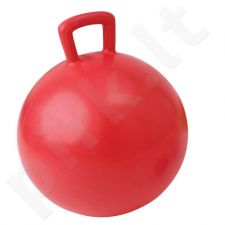 Gimnastikos kamuolys su rankena JUMPING BALL 55cm red