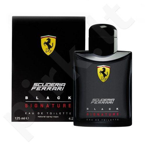 (Testeris)  Ferrari Black Signature, 125ml, tualetinis vanduo vyrams