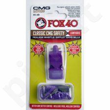 Švilpukas FOX CMG Classic Safety + virvutė 9603-0808 violetinė
