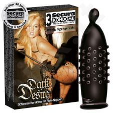 Secura Dark Desire 3 vnt. (ne reklaminėje pakuotėje)