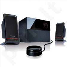 Microlab M-200 2.1 Speakers/ 40W RMS (12Wx2+16W)/ wired Remote Control with MP3 input & Headphone output