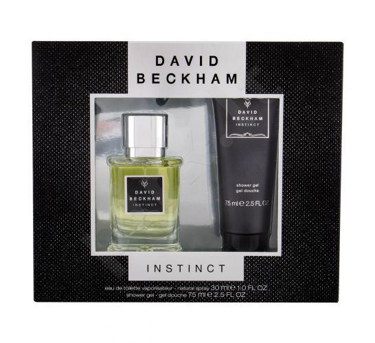 David Beckham Instinct, rinkinys tualetinis vanduo vyrams, (EDT 30 ml + dušo želė 75 ml)