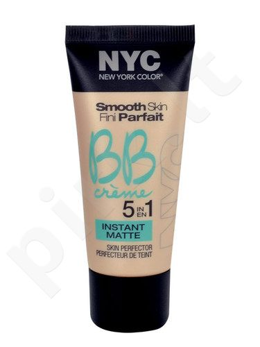 NYC New York Color BB Creme 5in1 Instant Matte, kosmetika moterims, 30ml, (02 Medium)