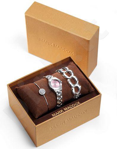 Moteriškas laikrodis MARK MADDOX Pack – Trendy Silver. 24 mm. kvarcinis WR 30 meters