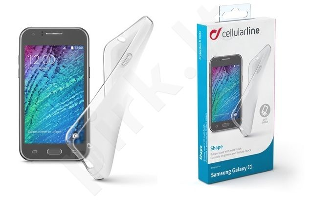 Samsung Galaxy J1 dėklas SHAPE Cellular permatomas