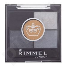Rimmel London Glam Eyes HD 5-Colour akių šešėliai, kosmetika moterims, 3,8g, (023 Foggy Grey)