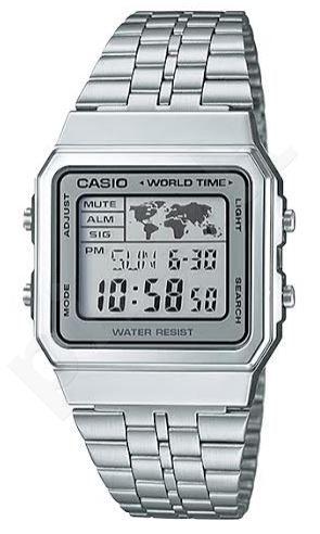 Laikrodis Casio A 500wa 7 Vintage World Time Map Display Original