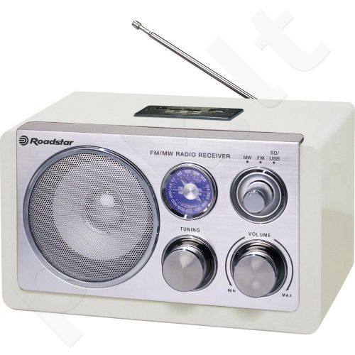 Medinė retro radija su USB Roadstar HRA-1325US/WH