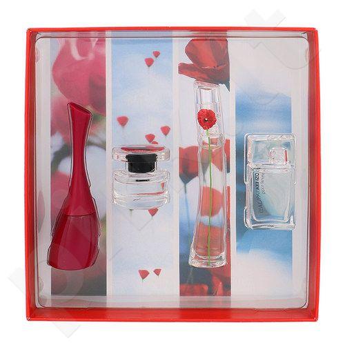 Kenzo Mini Set rinkinys moterims, (EDP Flower By Kenzo 4 ml + EDT Amour4 ml + EDT L´Eau Par Kenzo 5 ml + EDP Flower in the Air 4 ml)