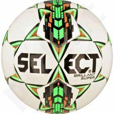Futbolo kamuolys Select Brillant Super biało-žalio atspalvio