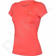 Marškinėliai treniruotėms Outhorn Quick Dry Basic Fit W HOL17-TSDF600 neon rožinės spalvos