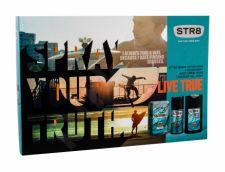STR8 Live True, rinkinys losjonas po skutimosi vyrams, (losjonas po skutimosi 50 ml + dezodorantas 150 ml + dušo želė 250 ml)