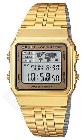 Laikrodis CASIO   A-500WGA-9 Vintage World Time   Map Display **ORIGINAL BOX**