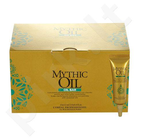 L´Oreal Paris Mythic Oil Oil Bar Pre-šampūnas Concentrate rinkinys moterims, (15x12ml Single Dose) [pažeista pakuotė]