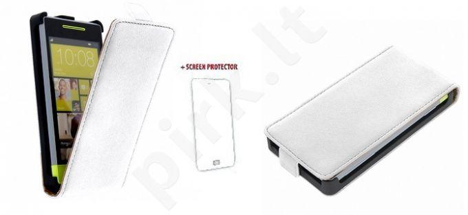 HTC One mini dėklas EXCLUSIVE GT baltas