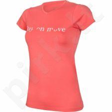 Marškinėliai Outhorn Message Tee Stay W HOL17-TSD614 rožinės spalvos