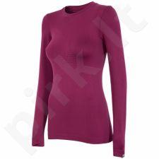 Marškinėliai termoaktyvūs 4f W H4Z17-BIDB001G bordowa