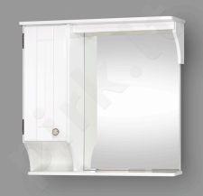 Pakabinama vonios spintelė su veidrodinėmis durimis, LED apšvietimu ir rozete Riva SV 79R