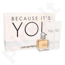 Giorgio Armani Because It´s You, Emporio Armani, rinkinys kvapusis vanduo moterims, (EDP 50 ml + kūno losjonas 75 ml + dušo želė 75 ml)