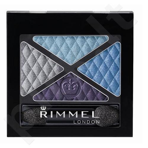 Rimmel London Glam Eyes Quad akių šešėliai, kosmetika moterims, 4,2g, (003 Smokey Purple)