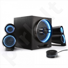 Microlab T10 2.1 Gaming Bluetooth Speakers/ 56W RMS (16Wx2+24W)/ Wired Remote Control/ LED Adjustable Breathing Lights