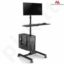 Maclean MC-793 Professional stand mobile trolley CPU on wheels max 20kg 17''-32'