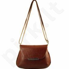 DAN-A T81 konjako spalvos rankinė iš natūralios odos , moteriška