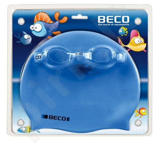 Plaukimo rinkinys: akiniai, kepuraitė silikoninė kids 9904 16