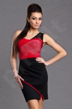 PROGRESS Suknelė raudona-juoda 5911-3