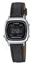 Laikrodis CASIO   LA-670WL-1B JEANS Strap. chronografas.  . Timer. wr 30 **ORIGINAL BOX**