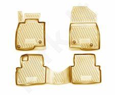 Guminiai kilimėliai 3D MAZDA 3 2013->, 4 pcs. /L45011B /beige