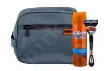 Gillette Fusion Proglide, rinkinys skutimosi peiliukai vyrams, (Shave Machine With One Head 1 pcs + Shave gelis 200 ml + kosmetika krepšys)