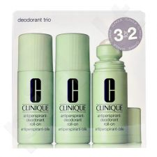 Clinique dezodorantas Trio rinkinys moterims, (3x 75 ml Antiperspirant-dezodorantas Roll-On)